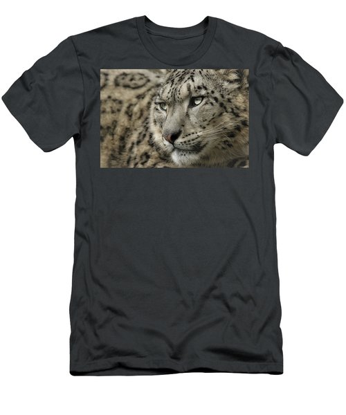 Eyes Of A Snow Leopard Men's T-Shirt (Athletic Fit)
