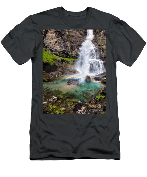 Fall And Rainbow Men's T-Shirt (Athletic Fit)