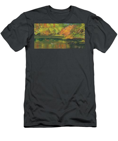Fall At Dorrs Pond Men's T-Shirt (Athletic Fit)
