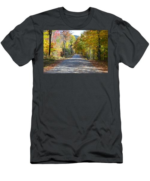 Fall Backroad Men's T-Shirt (Athletic Fit)