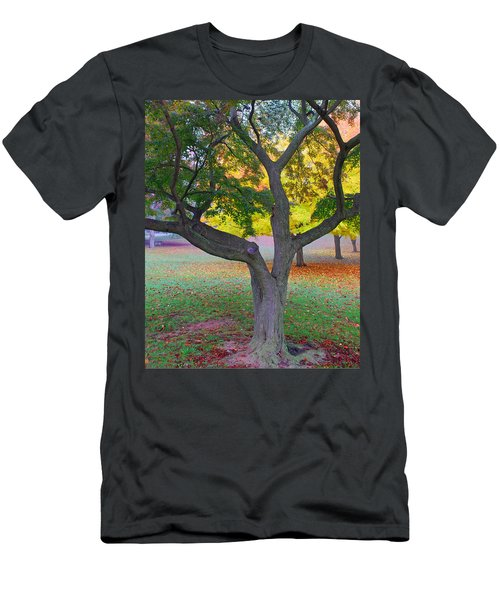 Men's T-Shirt (Slim Fit) featuring the photograph Fall Color by Lisa Phillips