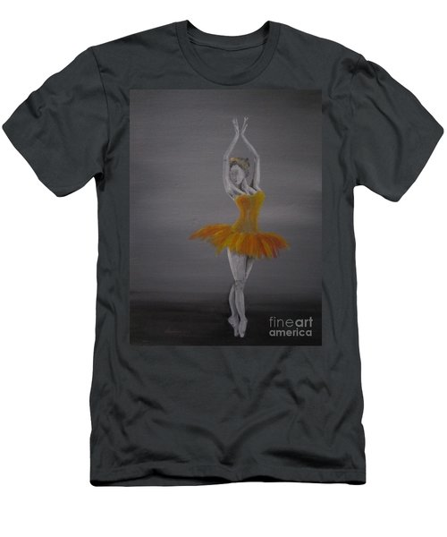 Men's T-Shirt (Slim Fit) featuring the painting Fall Dancer 2 by Laurianna Taylor