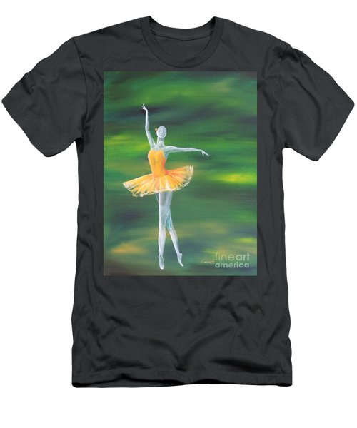 Men's T-Shirt (Slim Fit) featuring the painting Fall Dancer 3 by Laurianna Taylor