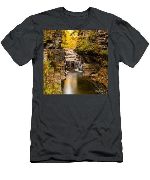 Fall Foliage At Dusk Treman Park Men's T-Shirt (Athletic Fit)