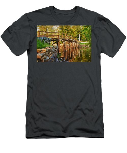 Fall Foliage Over The North Bridge Men's T-Shirt (Athletic Fit)