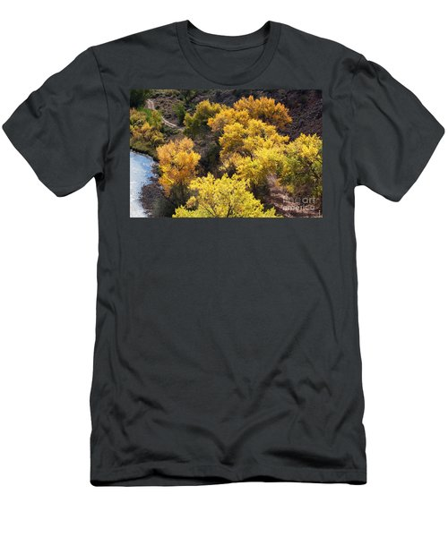 Men's T-Shirt (Slim Fit) featuring the photograph Fall On The Chama River by Roselynne Broussard