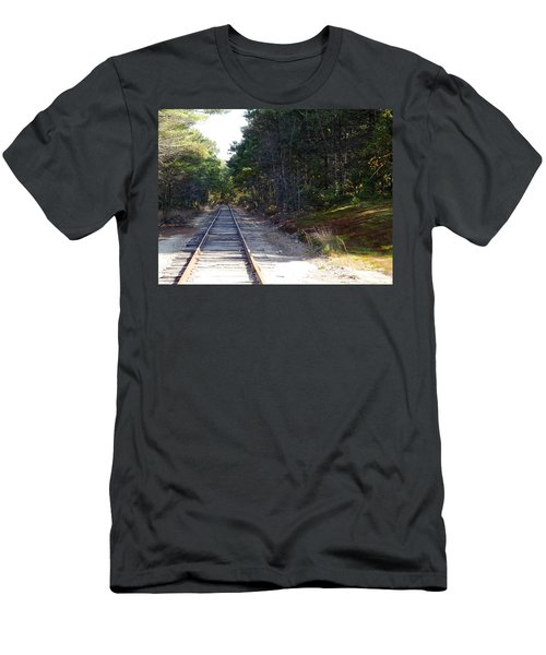 Fall Railroad Track To Somewhere Men's T-Shirt (Athletic Fit)