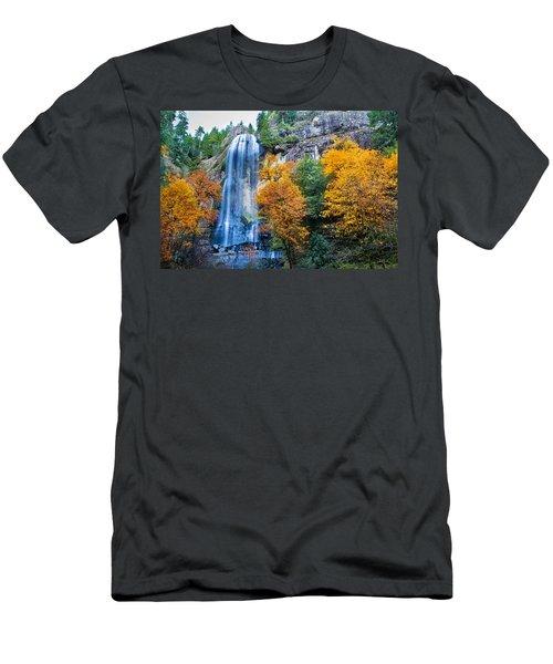 Fall Silver Falls Men's T-Shirt (Athletic Fit)