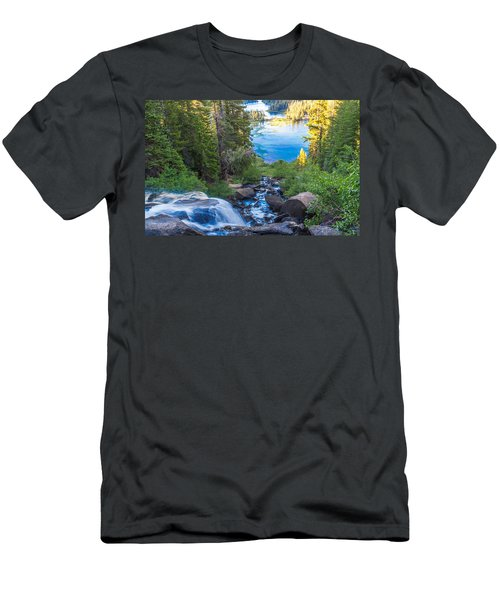 Falling Down To The Lakes Men's T-Shirt (Athletic Fit)