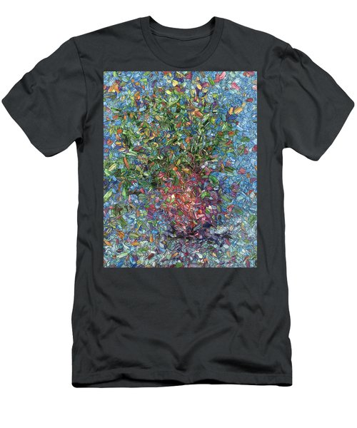 Falling Flowers Men's T-Shirt (Athletic Fit)
