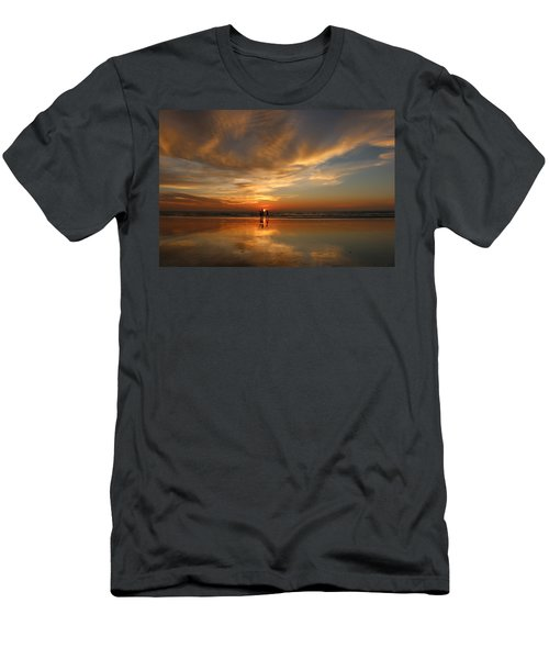 Family Reflections At Sunset - 2 Men's T-Shirt (Athletic Fit)