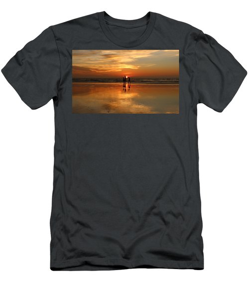 Family Reflections At Sunset -3  Men's T-Shirt (Athletic Fit)