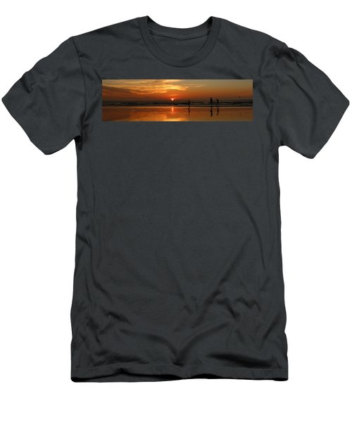 Family Reflections At Sunset - 4 Men's T-Shirt (Athletic Fit)