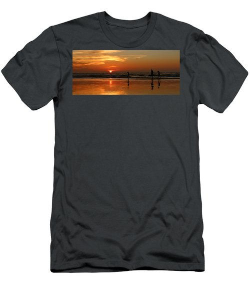 Family Reflections At Sunset - 5 Men's T-Shirt (Athletic Fit)