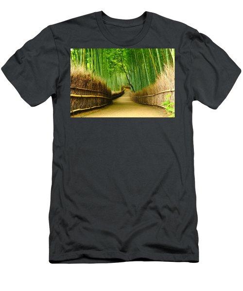 Famous Bamboo Grove At Arashiyama Men's T-Shirt (Athletic Fit)