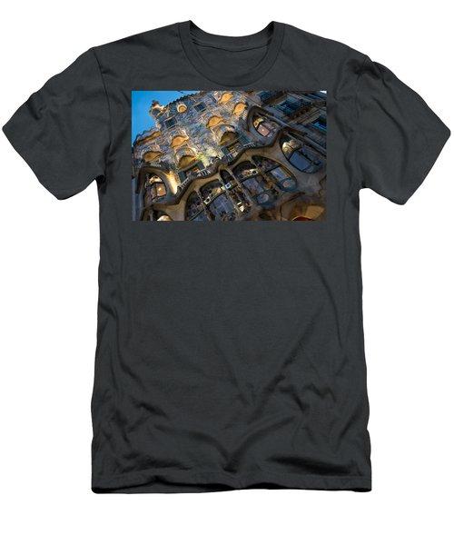 Fantastical Casa Batllo - Antoni Gaudi Barcelona Men's T-Shirt (Athletic Fit)