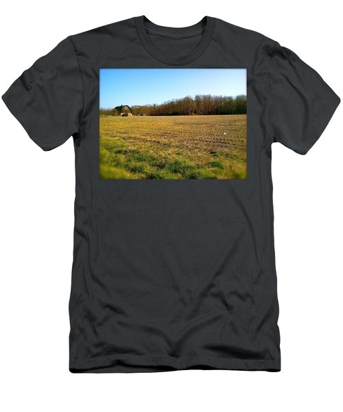 Farm Field With Old Barn Men's T-Shirt (Athletic Fit)