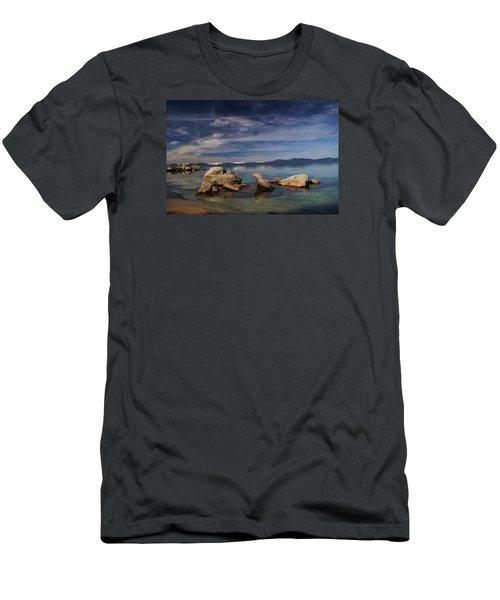 Men's T-Shirt (Slim Fit) featuring the photograph Fatman In A Bathtub by Sean Sarsfield