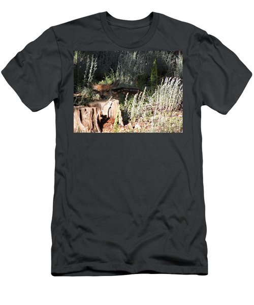 Men's T-Shirt (Athletic Fit) featuring the photograph Fawn Front Yard Divide Co by Margarethe Binkley