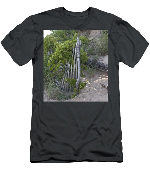 Fence N Sand Men's T-Shirt (Slim Fit) by Tara Lynn