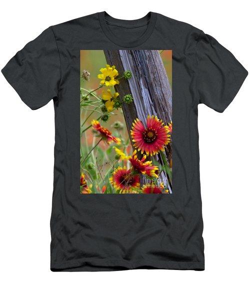 Fenceline Wildflowers Men's T-Shirt (Athletic Fit)