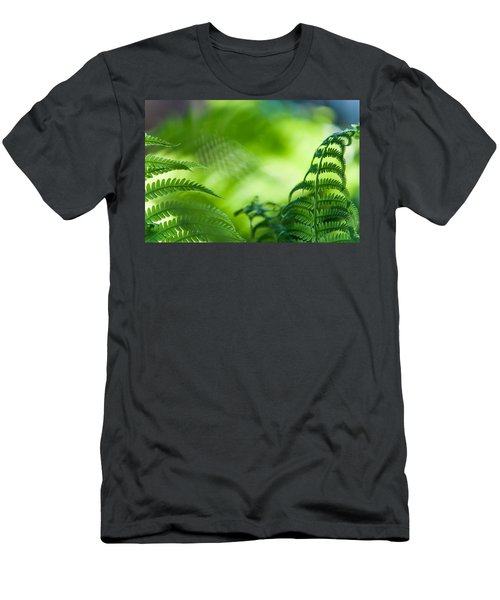 Fern Leaves. Healing Art Men's T-Shirt (Athletic Fit)