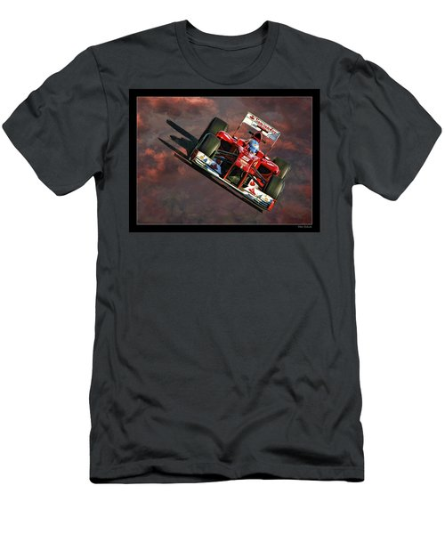 Fernando Alonso Ferrari Men's T-Shirt (Athletic Fit)