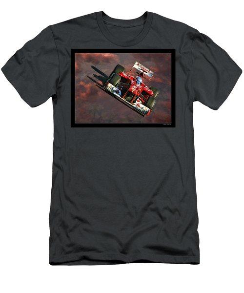 Fernando Alonso Ferrari Men's T-Shirt (Athletic Fit)
