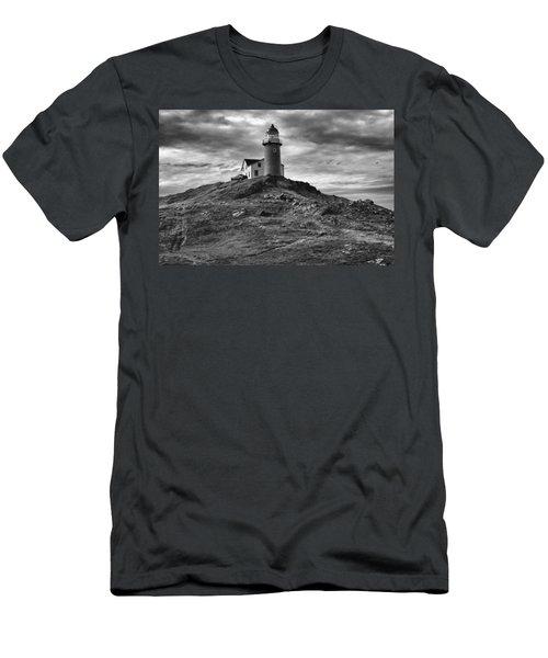 Ferryland Lighthouse Men's T-Shirt (Slim Fit) by Eunice Gibb