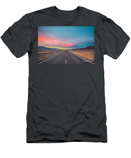 Fiery Road Though The Valley Of Death Men's T-Shirt (Athletic Fit)