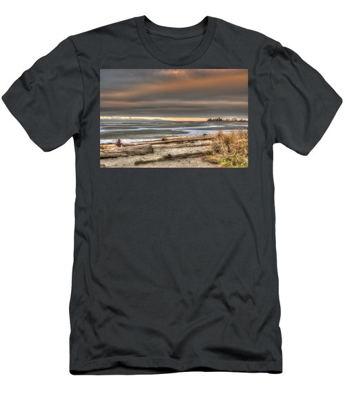 Fiery Sky Over The Salish Sea Men's T-Shirt (Athletic Fit)