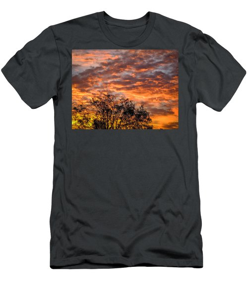 Fiery Sunrise Over County Clare Men's T-Shirt (Athletic Fit)