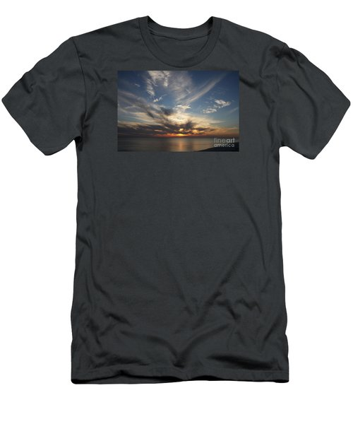 Men's T-Shirt (Slim Fit) featuring the photograph Fiery Sunset Skys by Christiane Schulze Art And Photography