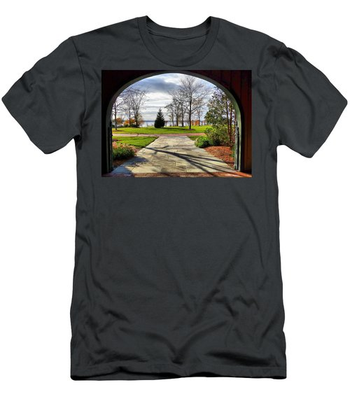 Finger Lakes View From Mackenzie Childs  Men's T-Shirt (Athletic Fit)