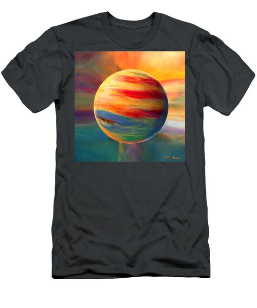 Fire And Ice Ball  Men's T-Shirt (Athletic Fit)