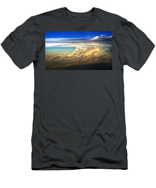 Fire In The Sky From 35000 Feet Men's T-Shirt (Athletic Fit)
