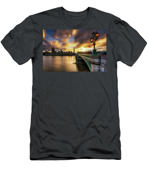 Fire In The Sky Men's T-Shirt (Slim Fit) by Yhun Suarez