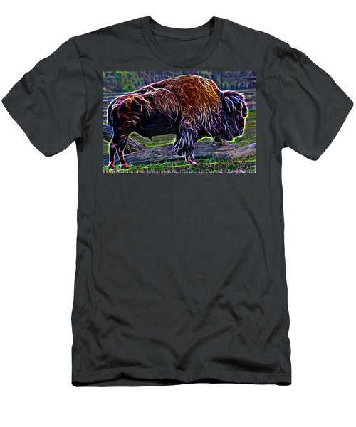 Fire Of A Bison  Men's T-Shirt (Athletic Fit)
