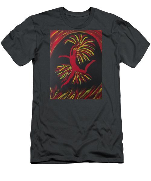 Men's T-Shirt (Slim Fit) featuring the painting Firebird by Sharyn Winters