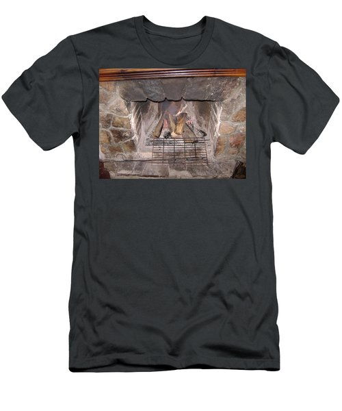Fireplace Men's T-Shirt (Athletic Fit)