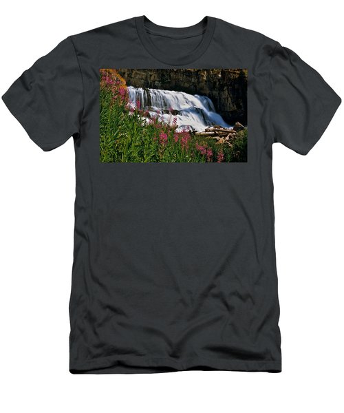 Fireweed Blooms Along The Banks Of Granite Creek Wyoming Men's T-Shirt (Athletic Fit)