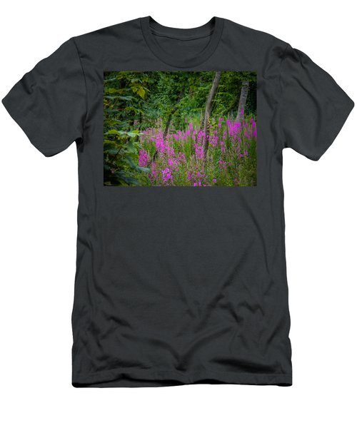 Fireweed In The Irish Countryside Men's T-Shirt (Athletic Fit)
