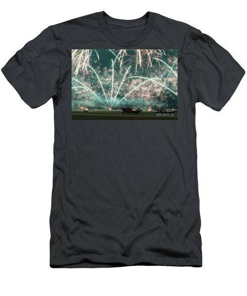 Fireworks And Aircraft Men's T-Shirt (Athletic Fit)
