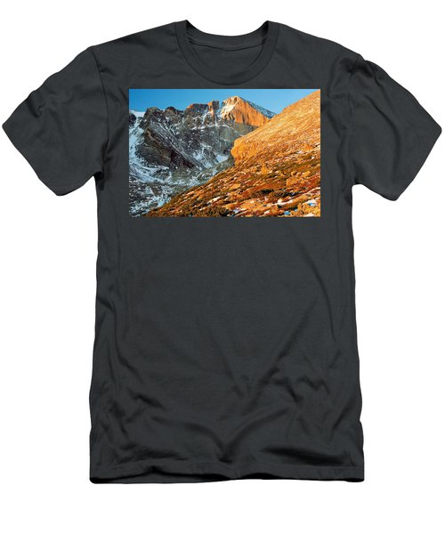 First Light At Longs Peak Men's T-Shirt (Slim Fit) by Eric Glaser
