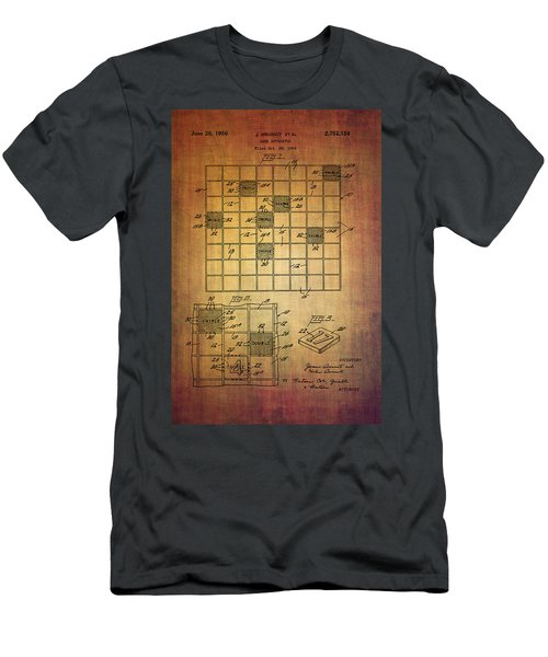 First Scrabble Game Board Patent From 1956  Men's T-Shirt (Athletic Fit)