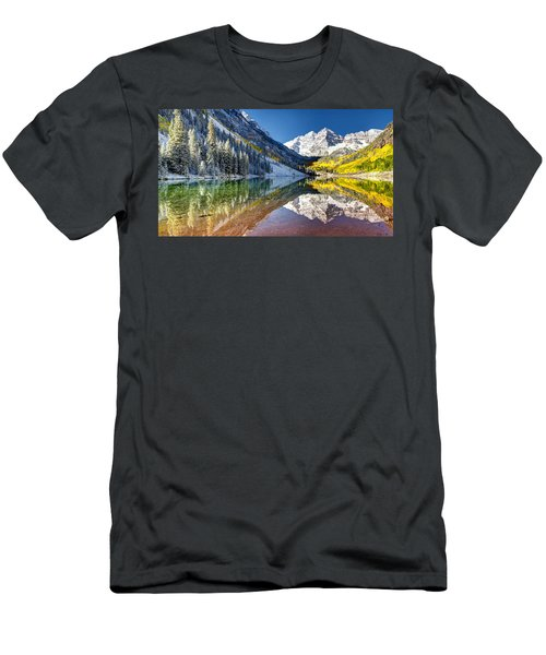 First Snow Maroon Bells Men's T-Shirt (Athletic Fit)
