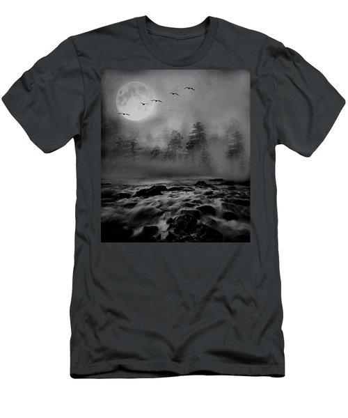 First Snowfall Geese Migrating Men's T-Shirt (Athletic Fit)