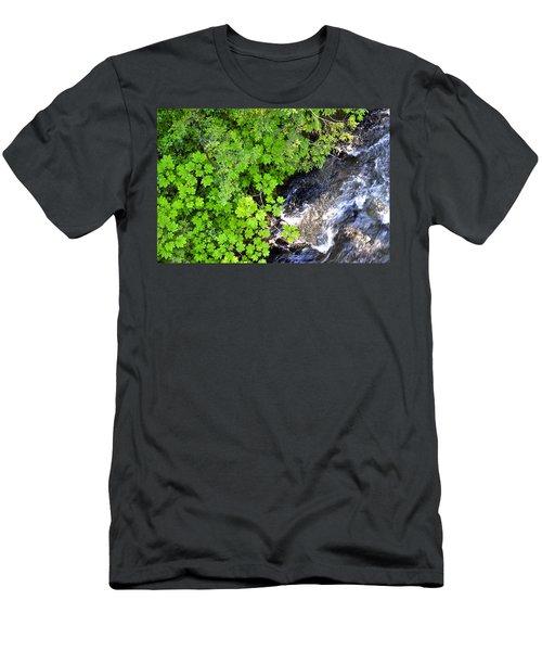 Fish Creek In Summer Men's T-Shirt (Athletic Fit)