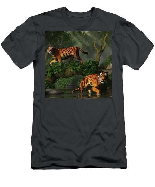 Fishing Tigers Men's T-Shirt (Athletic Fit)