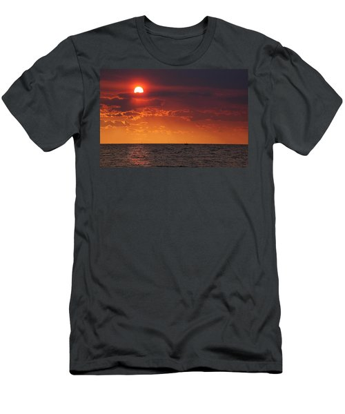Fishing Till The Sun Goes Down Men's T-Shirt (Athletic Fit)
